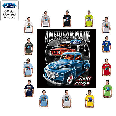 Ford American Made Built Tough Truck  Licensed Tee T Shirt CLEARANCE American Made Tee Shirts