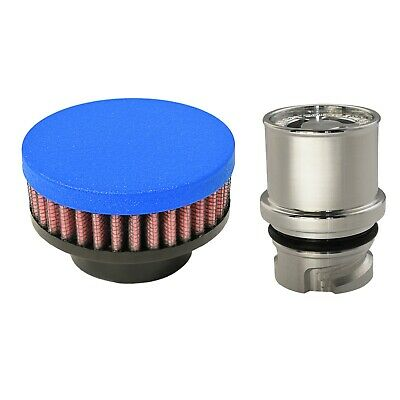 Valve Cover Breather Oil Cap for Ford F-150 Ecoboost 3.5L V6 (Wrinkle Blue)