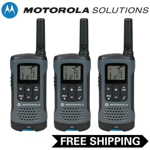 Motorola Talkabout T200 Two-Way Radio, 3 Pack, Grey
