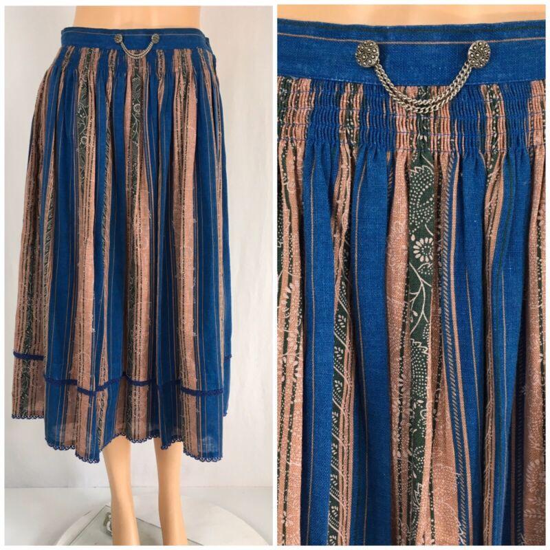 Vintage German Wool Skirt Octoberfest Dirndl Skirt Alphorn Von Adler  S/M