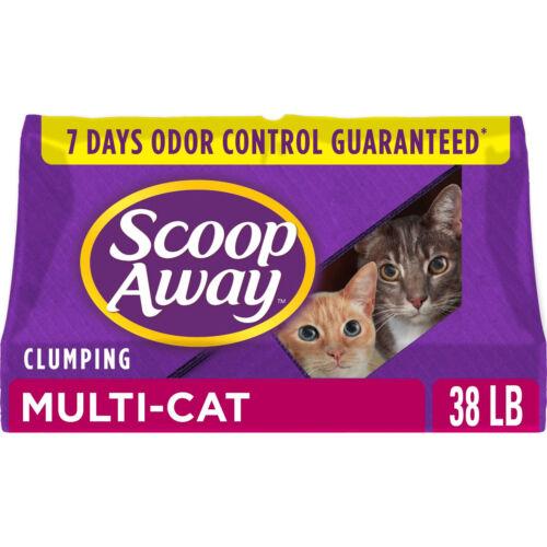 Scoop Away Multi-Cat Scented Cat Litter 7 Day Odor Control , 38 lbs