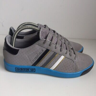 Adidas Forest Hills Grey Suede Blue Size 5.5 Trainers