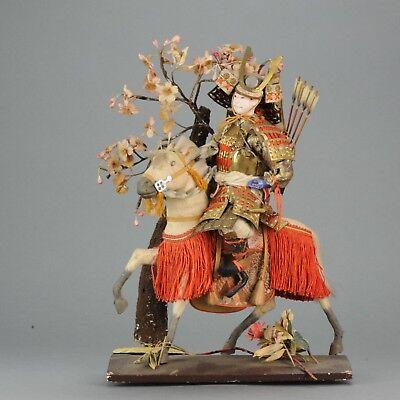 Lovely Japanese Ningyo Doll. Tanaka Doll. Samurai Warrior 19th/20th c  [...