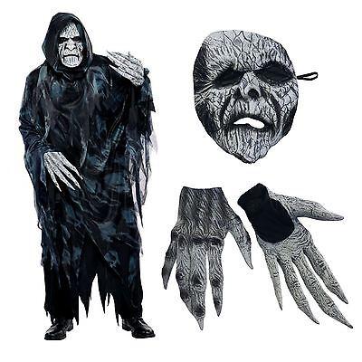 Herren Mittelalterlich Zaubererkostüm Böse Geister Ghul Zombi Kostüm Halloween L