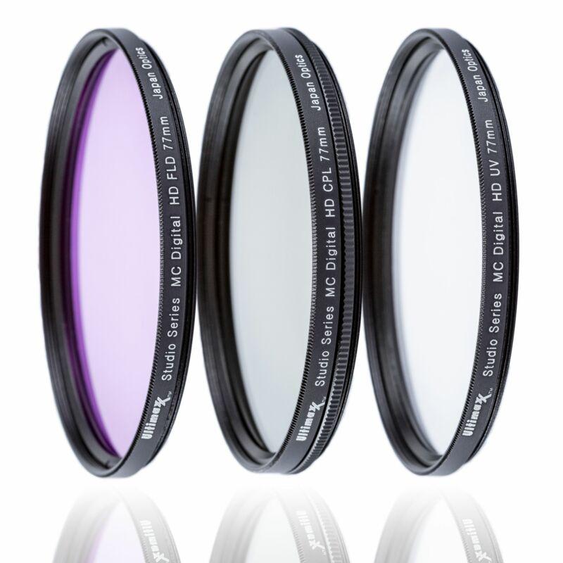 ULTIMAXX 3 Piece Multi Coated HD Filter Kit 58mm (UV, CPL, FLD)