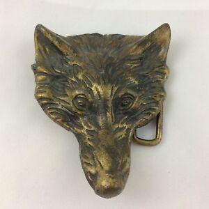 Vintage Fox / Wolf Head Belt Buckle