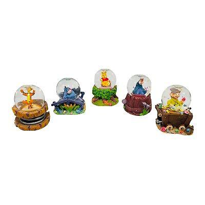 Lot Of 6 Disney Mini Snow Globes Eeyore Tigger Pooh Dopey Eeyore