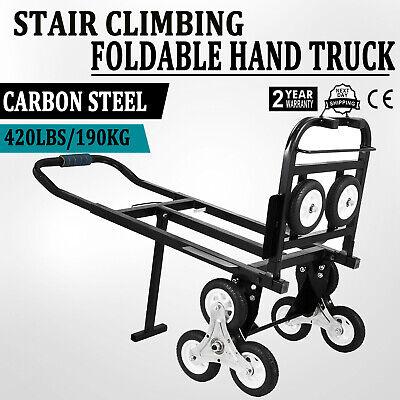 Heavy Duty Stair Climbing Climber Hand Truck Dolly Cart Trolley w/ Backup -