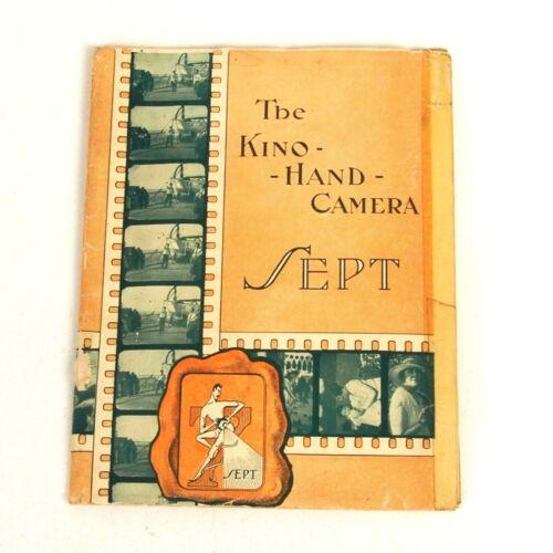 """+ RARE Vintage Original """"The Kino Sept Hand Camera"""" Instruction Manual"""