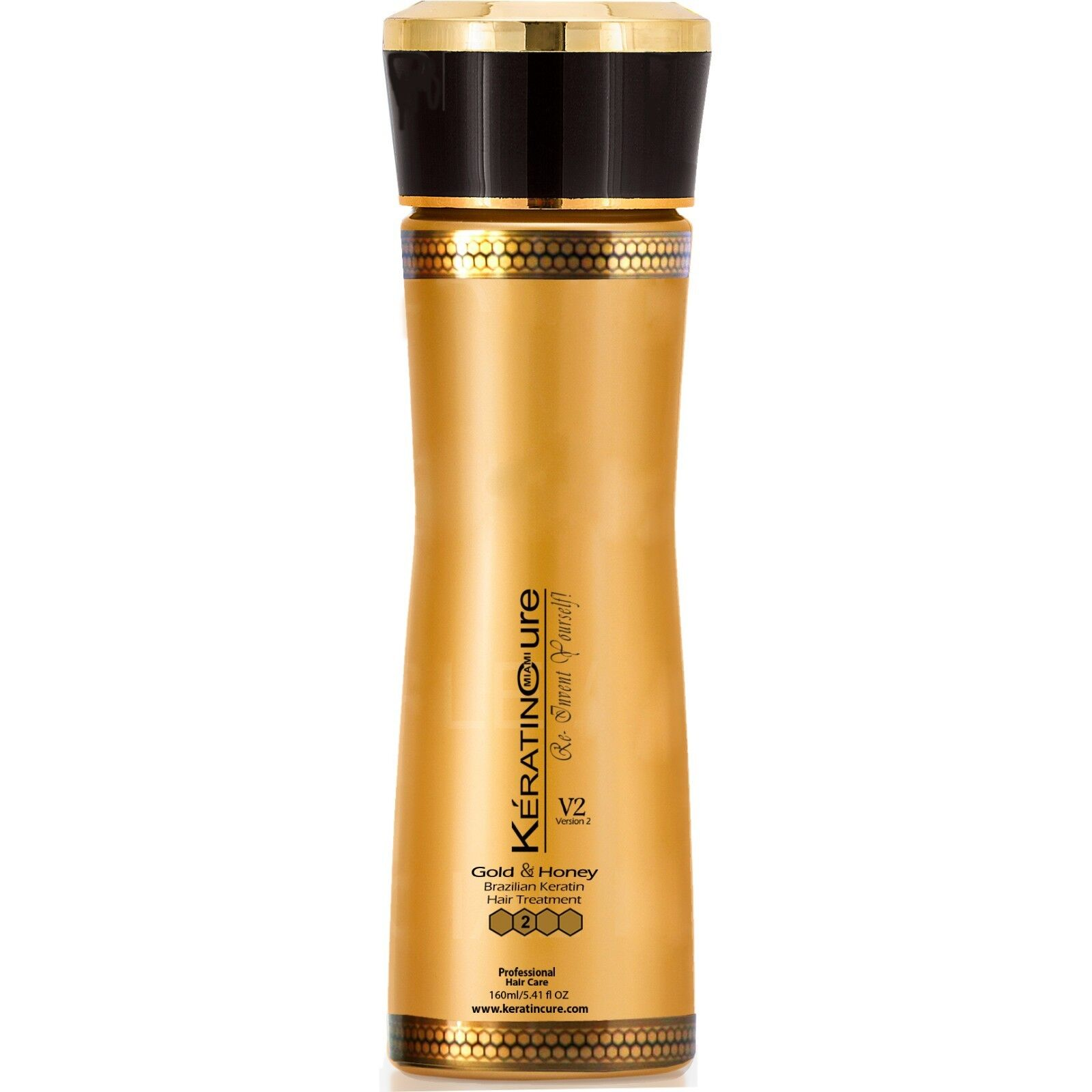 Keratin Cure Best Treatment Gold and Honey V2 Creme 5 Ounces