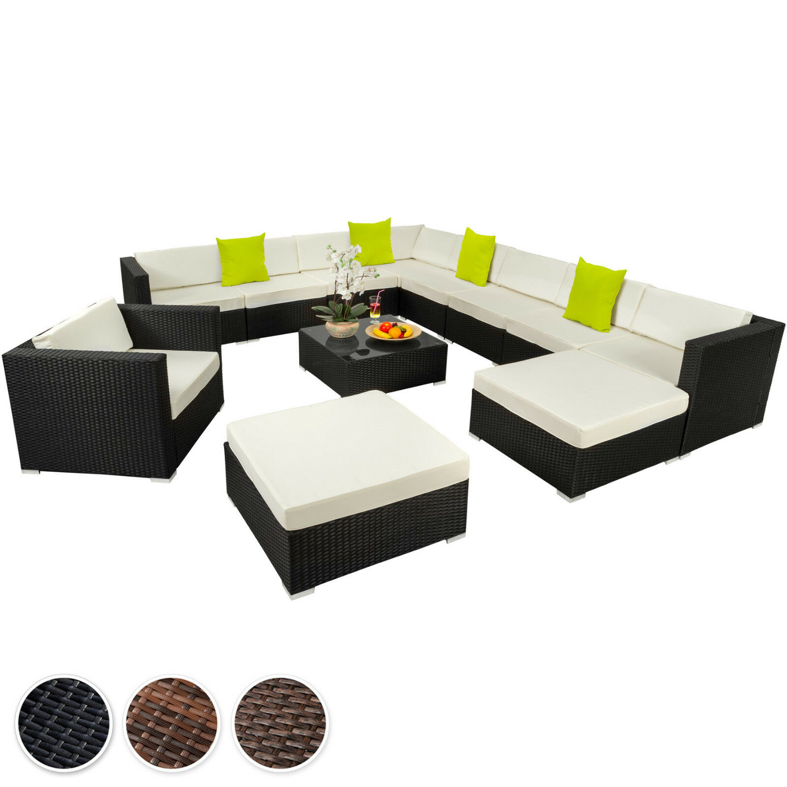 Svita Polyrattan Lounge Gartenmöbel Set Sofa Couch