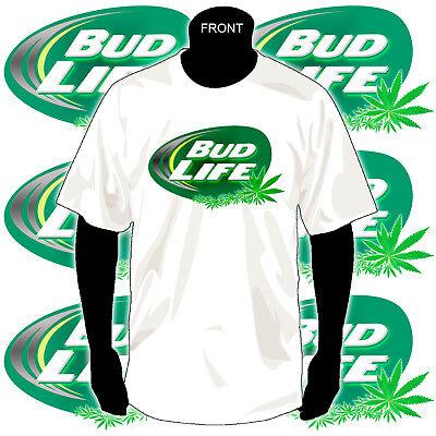 Bud Life   Weed   Cannabis   Marijuana T Shirt   Full Color Glitter Print