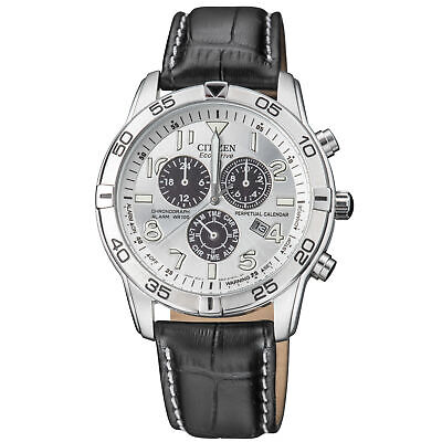 Citizen Perpetual Calender Eco-Drive Movement Silver Dial Men's Watch BL5470-14A