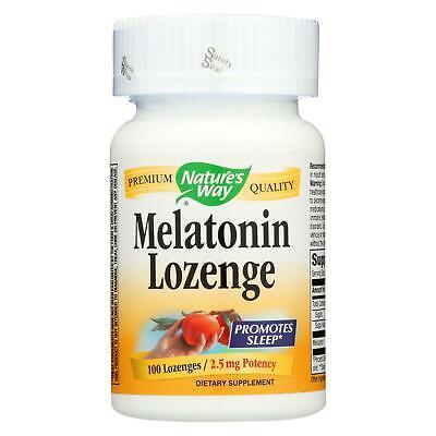 Nature's Way Melatonin Lozenge Fruit - 2.5 mg - 100 Lozenges Promotes Sleep 2.5 Mg 100 Lozenges