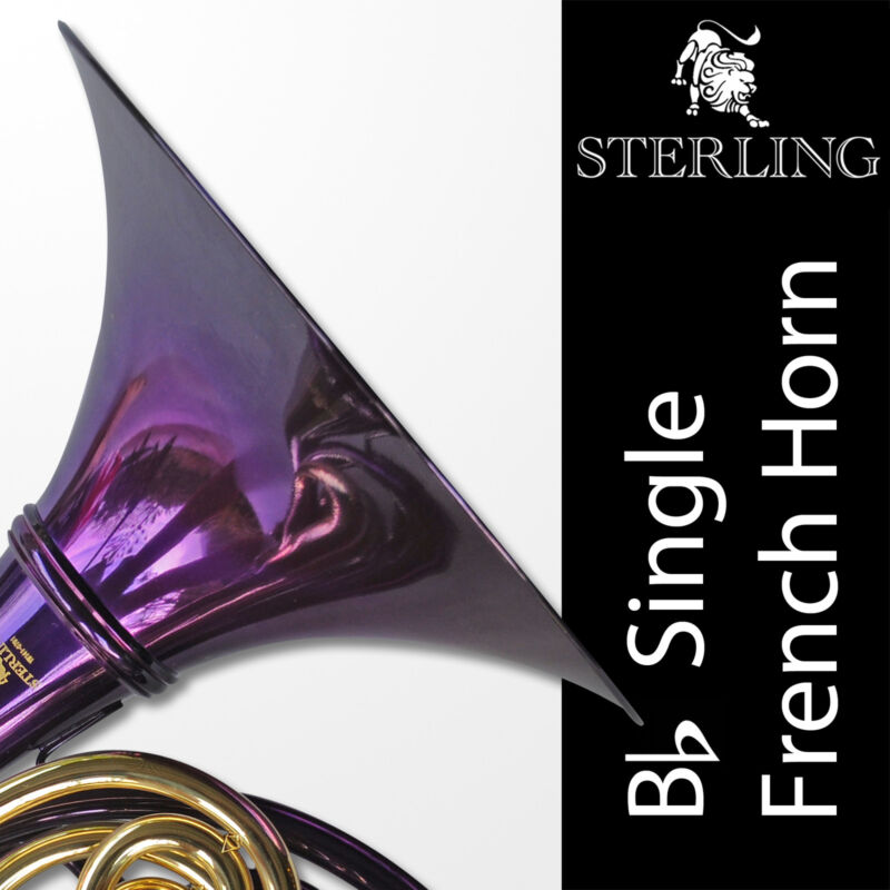 PURPLE • Bb SWFH-700 Single STERLING  FRENCH HORN • Pro • Brand New • With Case