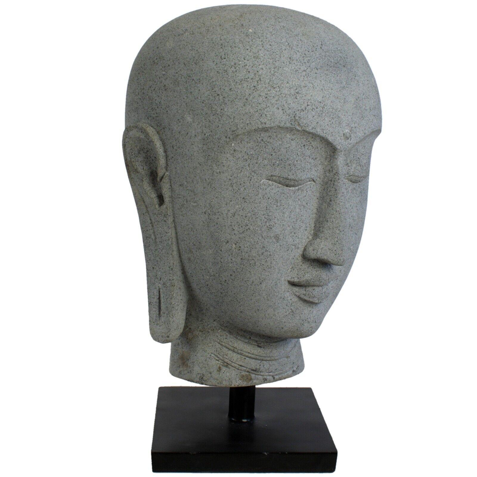 Buddha Kopf Lavastein 78 cm Budda Statue Gartenskulptur Gartendeko Figur Asien