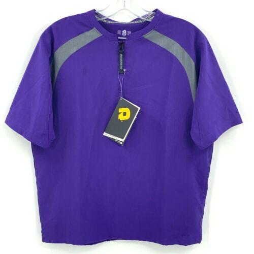 DeMarini Youth M Game Day Batting Practice Jacket Purple Gray Baseball Softball