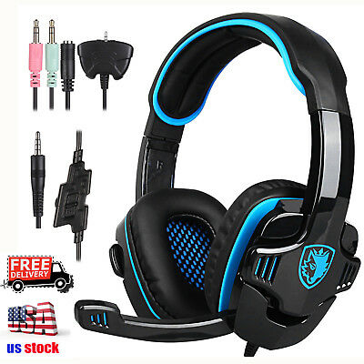 SADES SA-708 GT Gaming Headset Headphone With Microphone For