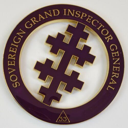 Auto Emblem Sovereign Grand Inspector General Mason Enamel Masonic Freemason