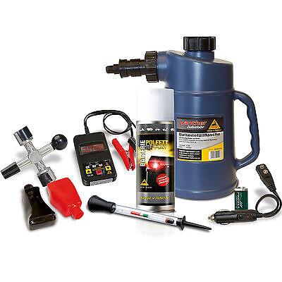 Batteriepflegeset für Autobatterien Starterbatterie Versorgungsbatterie 7-teilig
