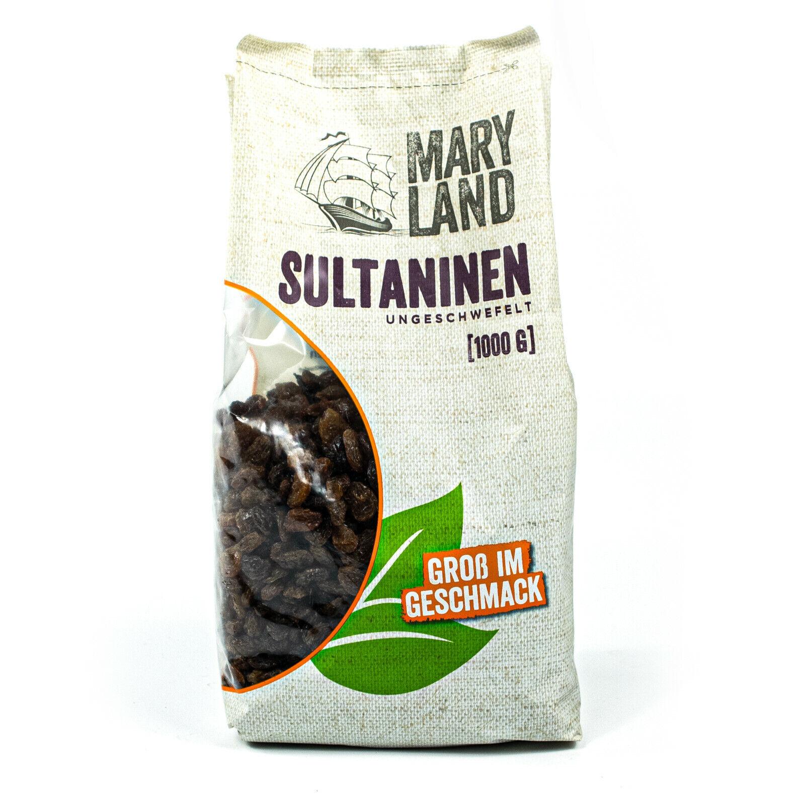 Maryland - Sultaninen ungeschwefelt 1 kg - Rosinen saftig, fruchtig & süß