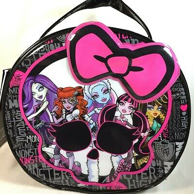 Monster High CREEPY COOL COSMETIC BAG - Round Purse Handbag NEW Not Doll - Creepy Doll Makeup