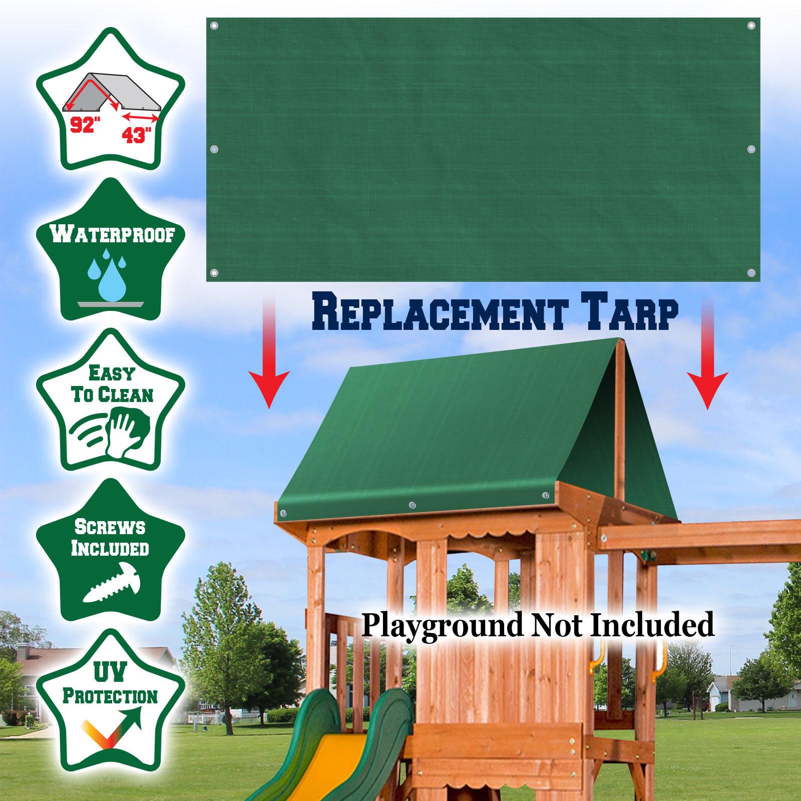 "Replacement Tarp for Backyard Wood Playset Swing Set 43""x90"""