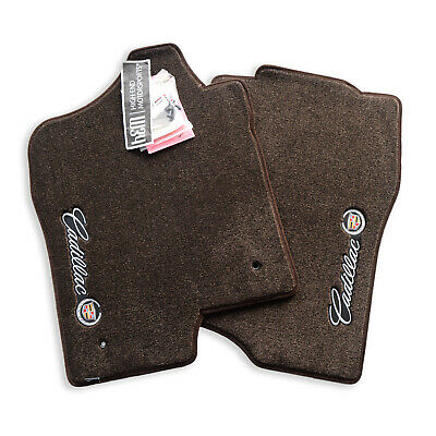 NEW 2007-2014 Cadillac Escalade ESV EXT Floor Mats Sideways Crest Cocoa In stock