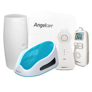 Angelcare AC403 Movement & Sound Baby Monitor Bundle | Bath Support | Nappy Bin