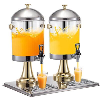 8lx2 Juice Drink Dispenser Beverage Cold Drink Commercial Restaurant Buffet