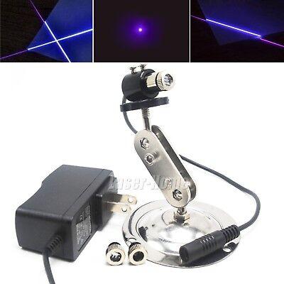 50mw 405nm Violetblue Focusable Dot Line Cross Laser Module 5v Adapter Holder