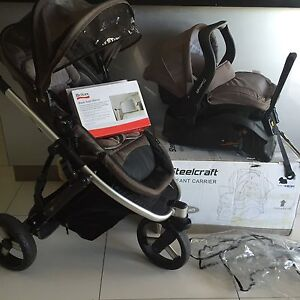Strider plus stroller and capsule car seat by Steelcraft Pacific Pines Gold Coast City Preview