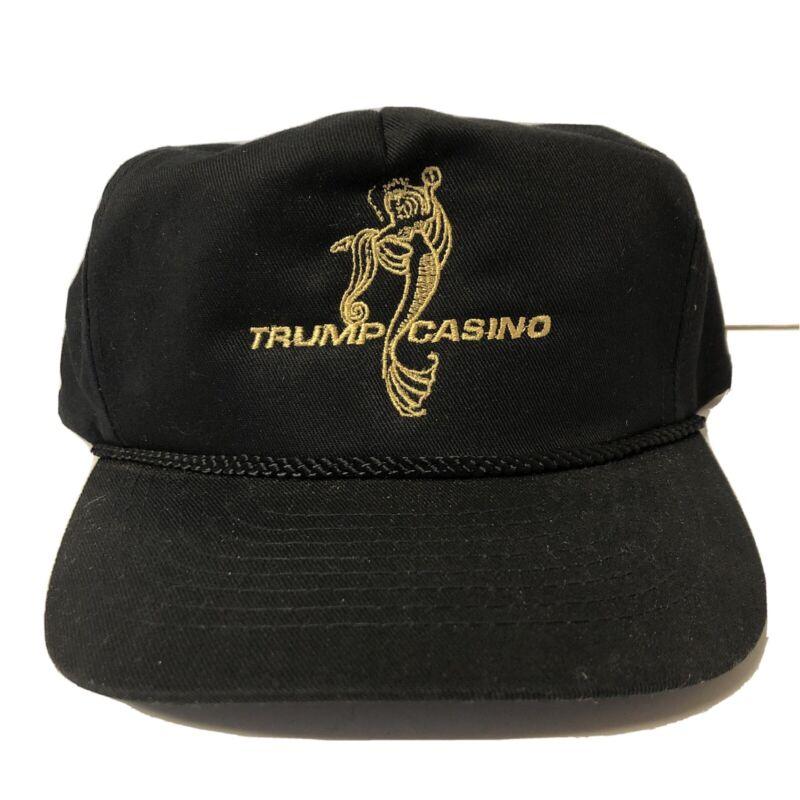 Vintage Trump Casino Snapback Hat Cap Embroidered Atlantic City, NJ