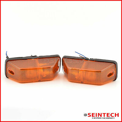 Amber Indicator Lamp Lens For Mercedes Sprinter Left And Right Side Pair 1995-06