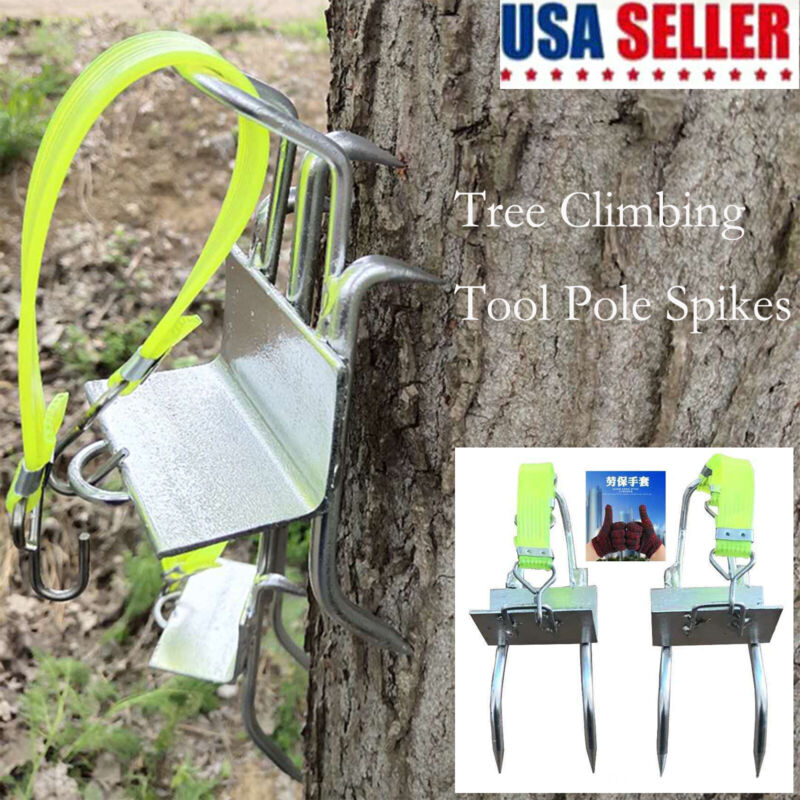 USA Claws Tree Climbing Tool Pole Spikes for Hunting Observation Picking Fruit
