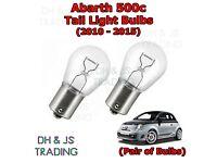 Fiat 500 500C year 07-15 Black//smoke Led Taillights Rear Lights Tail lights Set