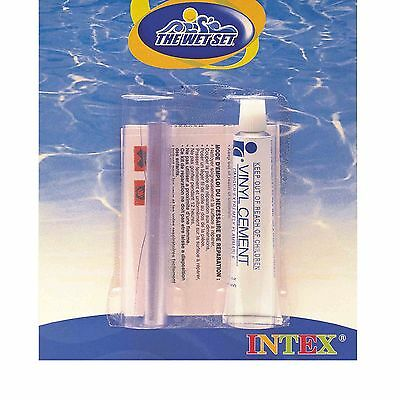 Intex Vinyl Repair Kit Glue Cement Patch for Inflatables Pools Wet Set