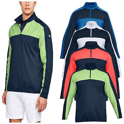 Under Armour Mens Crestable Midlayer Half Zip Top UA Golf Jumper Pullover Jacket