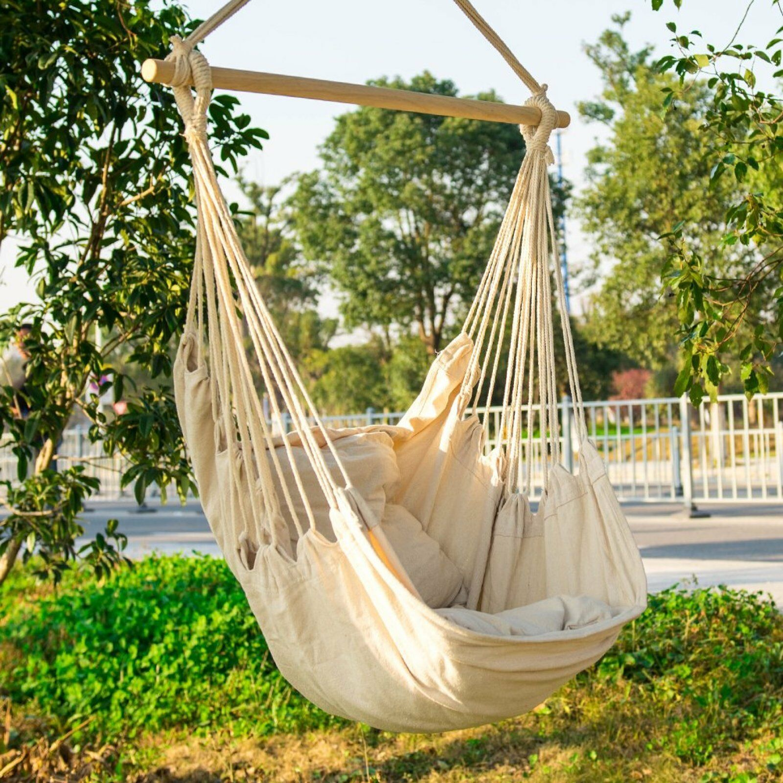Details About Hanging Hammock Chair Swing Seat Relaxing Porch Bed Lazy Afternoon Outdoor Bed