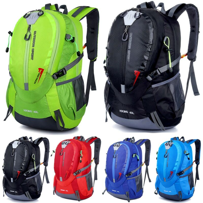 Damen Herren Backpack Rucksack Schulrucksack Sports Wandern City Reisetasche 40L