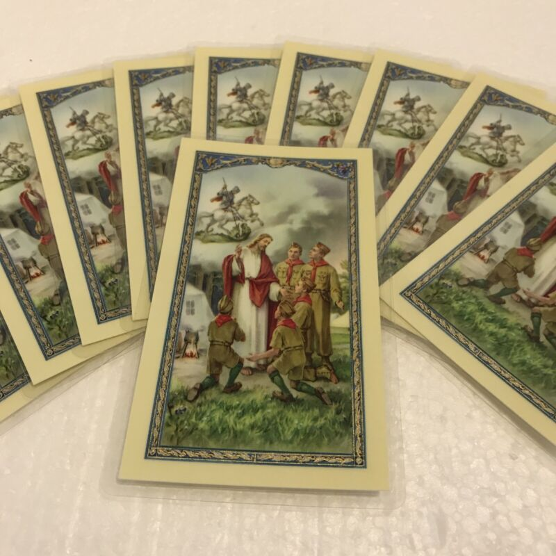 10 Vintage Religious Boy Scouts with Jesus The Scout Oath of Promise Holy Cards