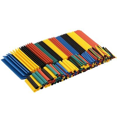 328 Pc 21 Polyolefin Heat Shrink Tubing Tube Sleeve Wrap Wire Assortment 8 Size
