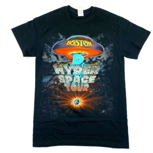 Boston Hyper Space Itinerary 2017 Tour Tee - Gildan Cotton T-Shirt - Black - S