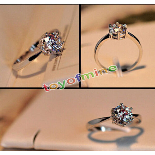 Ring - Fashion Women 925 Sterling Silver Jewelry Filled Wedding Engagement Crystal Ring