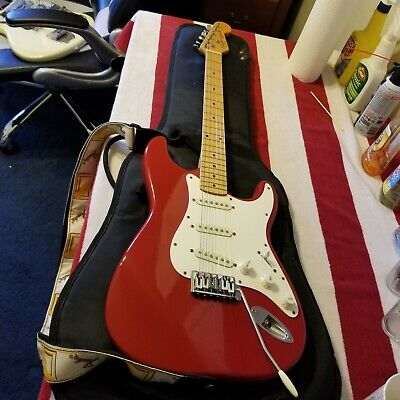 Fender Squier II SSS Candy Red Stratocaster E Series Made in Korea