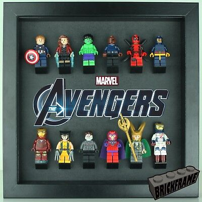 LEGO Avengers Marvel Minifigure display Frame Case