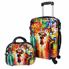 World Traveler 2-Piece Carry-On Hardside Spinner Luggage Set - Paris Nights