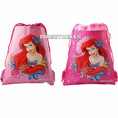 Ariel Little Mermaid Authentic Licensed Drawstring String Bag School Backpack