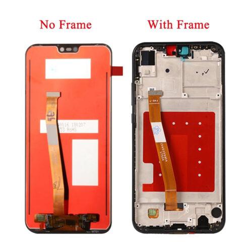 Full LCD Display+Touch Screen+Frame Ersatz für  P20 Lite Handy Schwarz