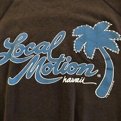 1970s Men's Shirt Styles – Vintage 70s Shirts for Guys Vintage 1970s LOCAL MOTION HAWAII Rare Original 1978 Surfer Sweatshirt Shirt L $19.99 AT vintagedancer.com